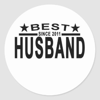 Best HUSBAND Since 2011 Tshirt.png Round Sticker