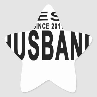 Best HUSBAND Since 2011 Tshirt.png Star Sticker