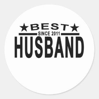 Best HUSBAND Since 2011 Tshirt.png Round Sticker