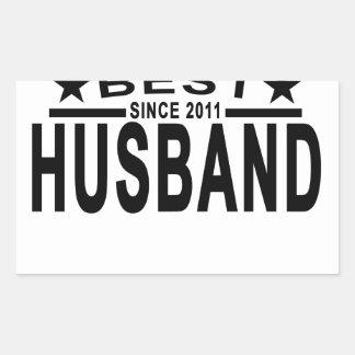 Best HUSBAND Since 2011 Tshirt.png Rectangular Sticker