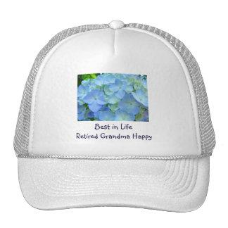 Best in Life Retired Grandma Happy custom hats