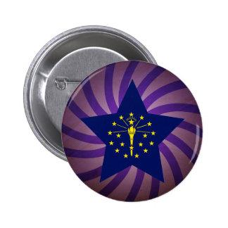 Best Indiana Flag Design 6 Cm Round Badge