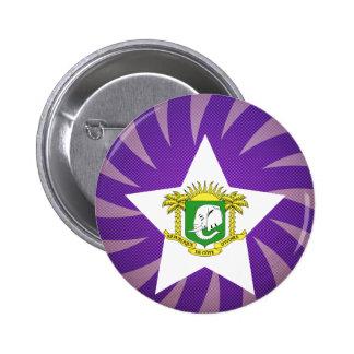 Best Ivory Coast Flag Design 6 Cm Round Badge