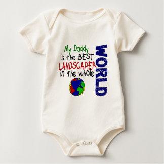 Best Landscaper In World 2 (Daddy) Baby Bodysuit
