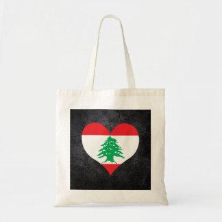 Best Lebanese Heart flag Budget Tote Bag