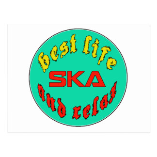 Best Life Ska Postcard