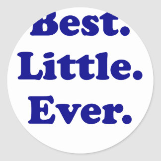 Best Little Ever Round Stickers