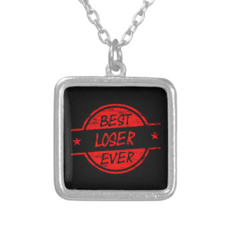 Best Loser Ever Red Silver Plated Necklace