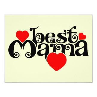 Best Mama 11 Cm X 14 Cm Invitation Card