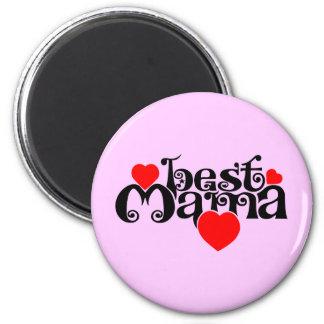 Best Mama 6 Cm Round Magnet