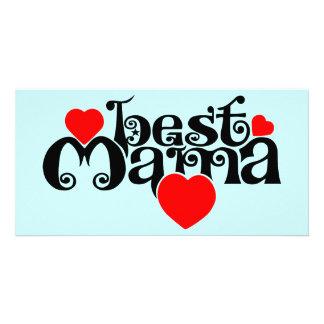 Best Mama Customized Photo Card
