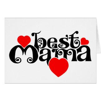 Best Mama Greeting Card