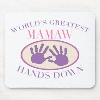 Best Mamaw Hands Down T-shirt Mouse Mat