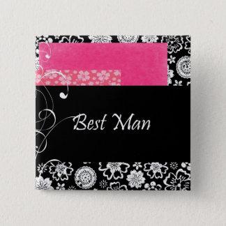Best Man 15 Cm Square Badge
