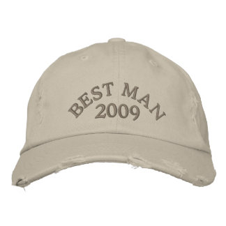 Best Man 2009 Embroidered Hats