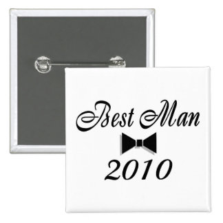 Best Man 2010 Bow Tie 15 Cm Square Badge