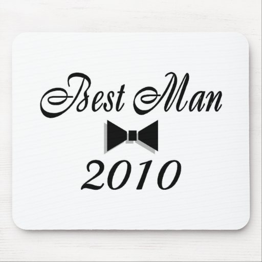 Best Man 2010 Bow Tie Mouse Pads