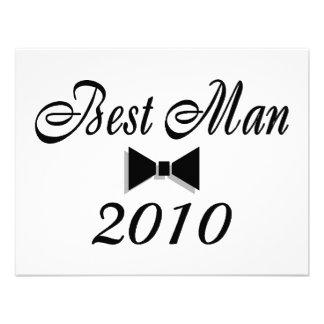 Best Man 2010 Bowtie Personalized Invitations