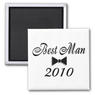 Best Man 2010 (Bowtie) Square Magnet