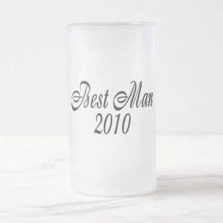 Best Man 2010 Frosted Glass Mug