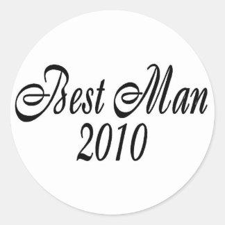 Best Man 2010 Round Sticker