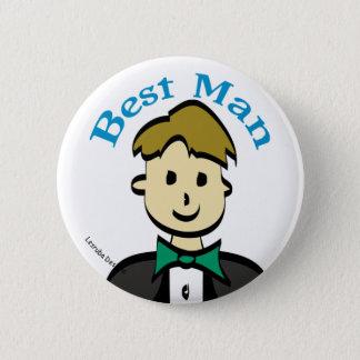 Best Man 6 Cm Round Badge