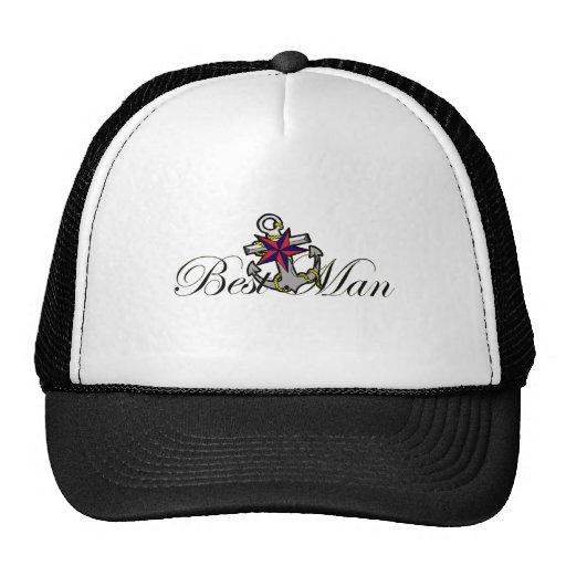 Best Man Anchor Trucker Hats