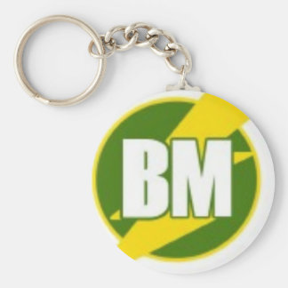 Best Man B/M Basic Round Button Key Ring