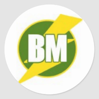 Best Man B/M Round Sticker