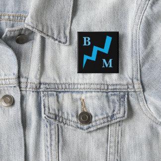 Best Man Blue Lightening Strike Button