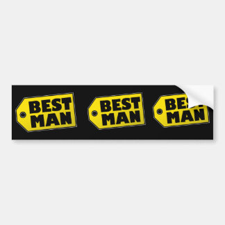 Best Man Bumper Sticker