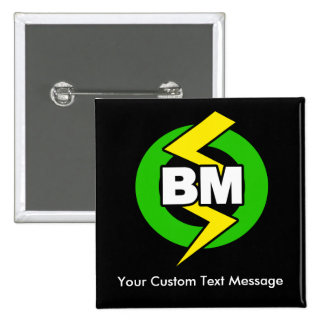 Best Man Button, Custom Text