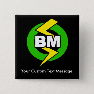 Best Man Button, Custom Text 15 Cm Square Badge