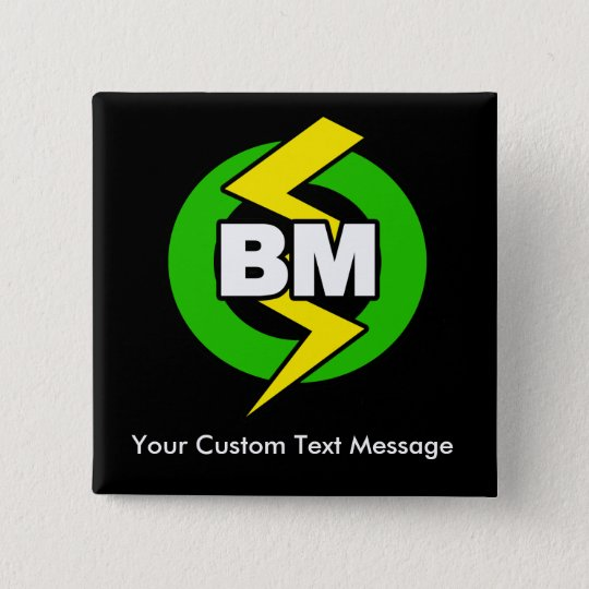 Best Man Button, Custom Text 15 Cm Square