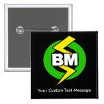 Best Man Button, Custom Text 15 Cm Square Badge