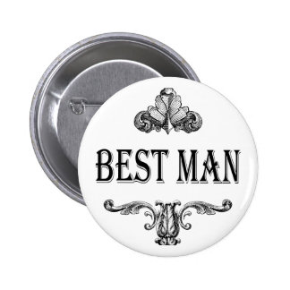 best man button customizable with own color