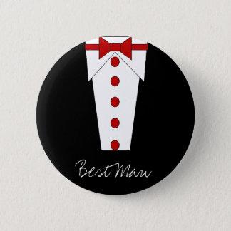 Best Man Button (Red)
