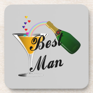 Best Man Champagne Toast Coasters