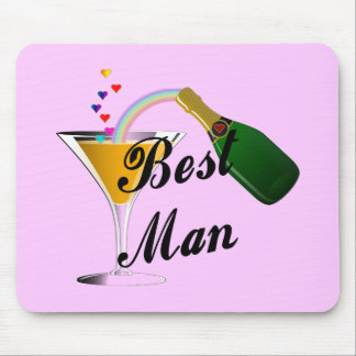 Best Man Champagne Toast Mouse Mat