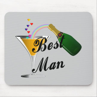 Best Man Champagne Toast Mouse Pad