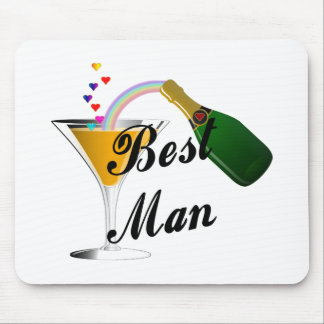 Best Man Champagne Toast Mousepad