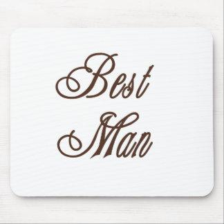 Best Man Classy Browns Mouse Mats