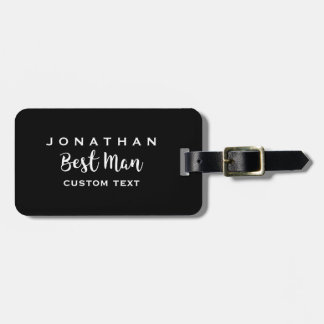 Best Man Custom Wedding Modern Monogram Luggage Tag