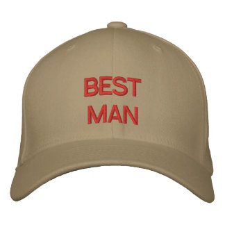 BEST MAN EMBROIDERED HAT