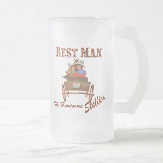 Best Man Gift 16 oz Frosted Beer Mug