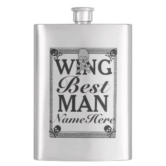 Best Man Gift Flask! From Groom! Add Name! Hip Flask