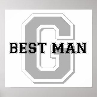 Best Man Groom Cheer Posters