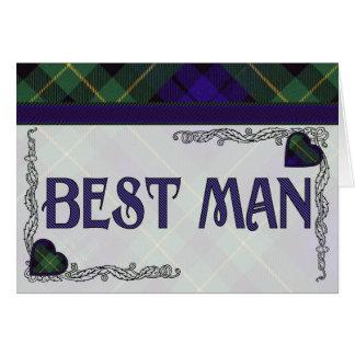 Best Man - Invitation - Scottish Tartan Barclay Greeting Card