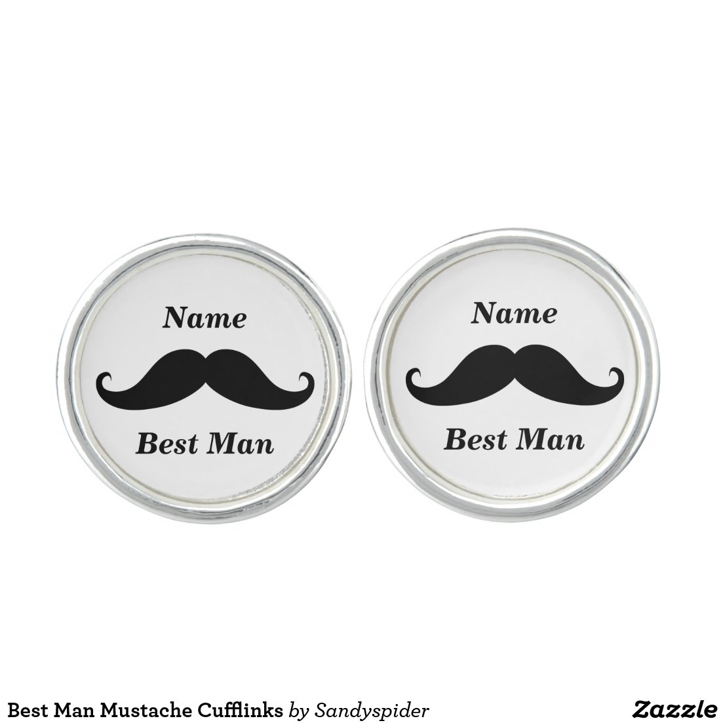 Best Man Moustache Cufflinks