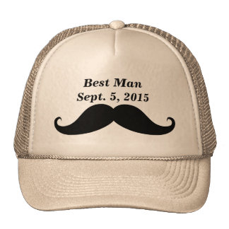 Best Man Mustache Truckers Hat
